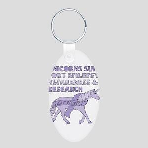 Unicorns Support Epilepsy Awareness Keychains