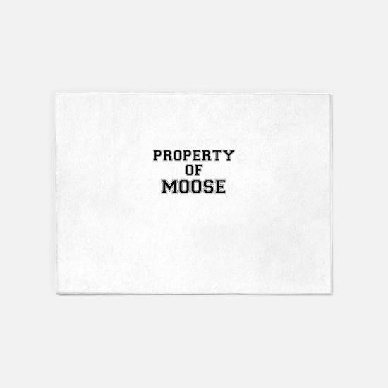 Property of MOOSE 5'x7'Area Rug