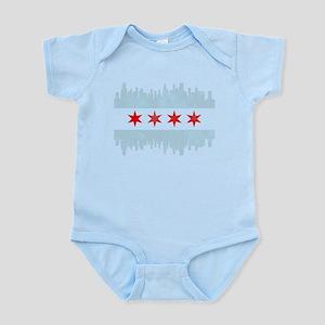 Chicago Skyline Flag Body Suit