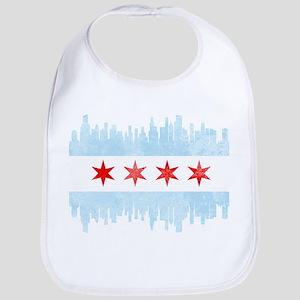 Chicago Skyline Flag Bib
