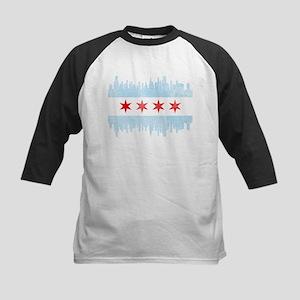 Chicago Skyline Flag Baseball Jersey