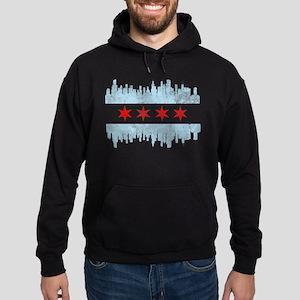 Chicago Skyline Flag Hoodie (dark)