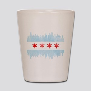 Chicago Skyline Flag Shot Glass