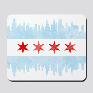 Chicago Skyline Flag Mousepad