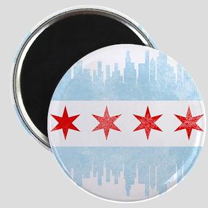 Chicago Skyline Flag Magnets