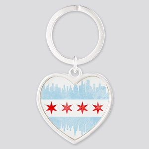 Chicago Skyline Flag Keychains