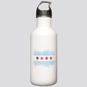 Chicago Skyline Flag Stainless Water Bottle 1.0L