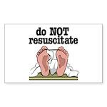 RESUSCITATE Rectangle Sticker