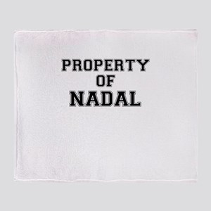 Property of NADAL Throw Blanket