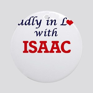 Madly in love with Isaac Round Ornament