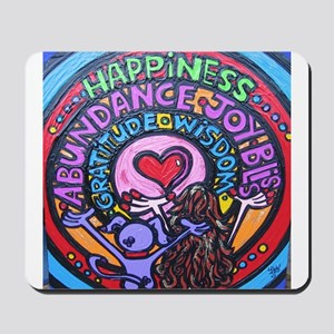 HAPPINESS and BLISS law of attraction mouse pad