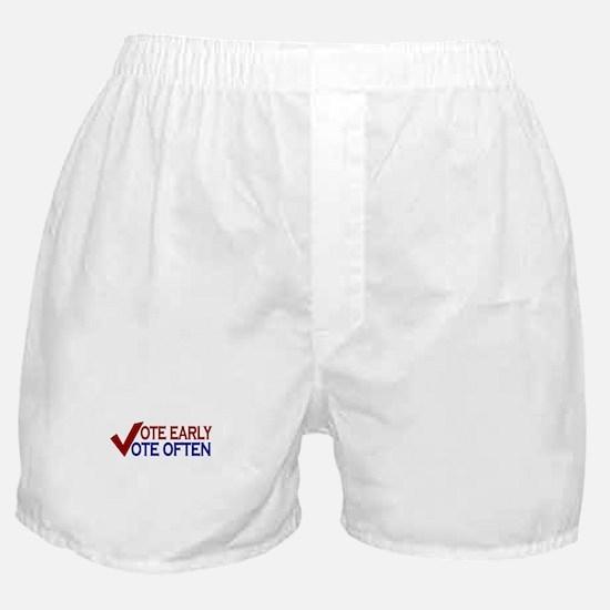 Vote Early Vote Often Boxer Shorts