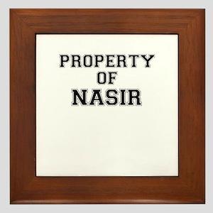 Property of NASIR Framed Tile