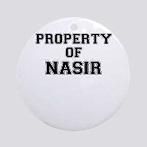 Property of NASIR Round Ornament