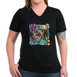 I'm a Virgo Women's V-Neck Dark T-Shirt