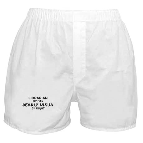 Librarian Deadly Ninja by Night Boxer Shorts