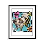 I'm a Virgo Framed Panel Print
