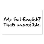 Me Fail English Rectangle Sticker