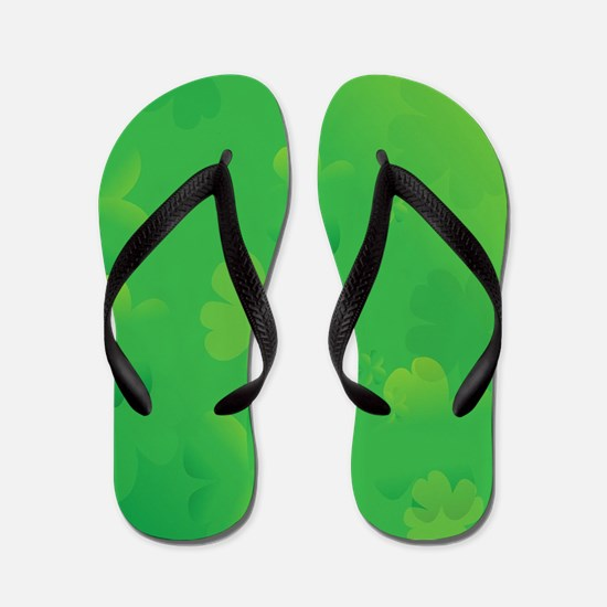 Glowing Shamrocks Flip Flops