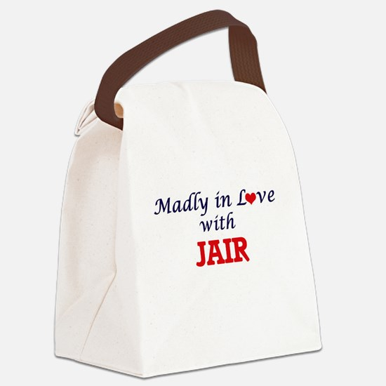 Madly in love with Jair Canvas Lunch Bag