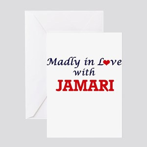 Madly in love with Jamari Greeting Cards