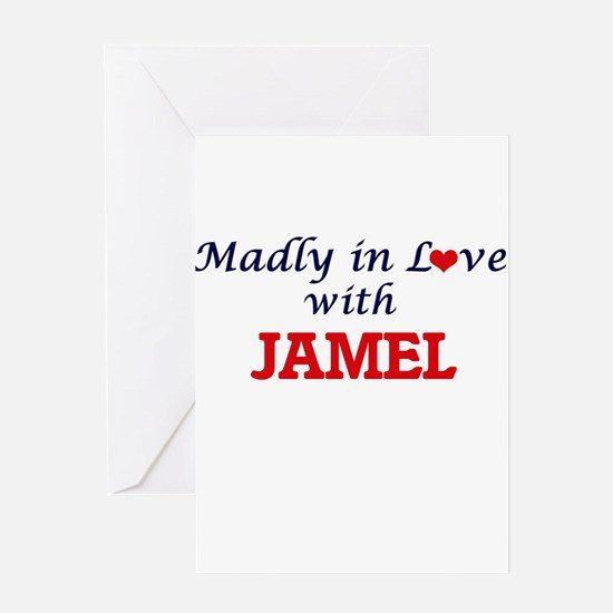 Madly in love with Jamel Greeting Cards