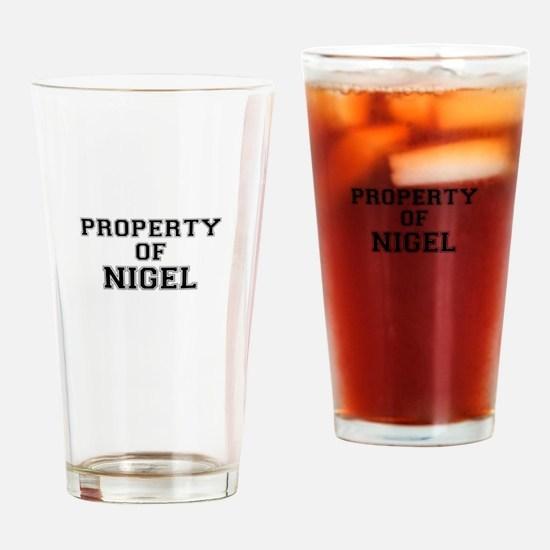 Property of NIGEL Drinking Glass