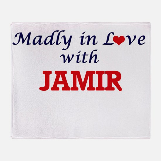 Madly in love with Jamir Throw Blanket