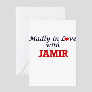 Madly in love with Jamir Greeting Cards