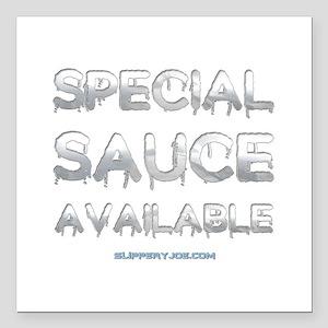 "Sauce-1 Square Car Magnet 3"" x 3"""