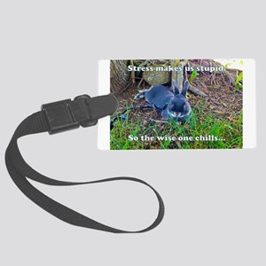 The Wise One Chills Luggage Tag