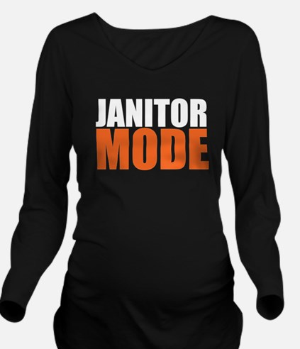 Funny Janitor Long Sleeve Maternity T-Shirt