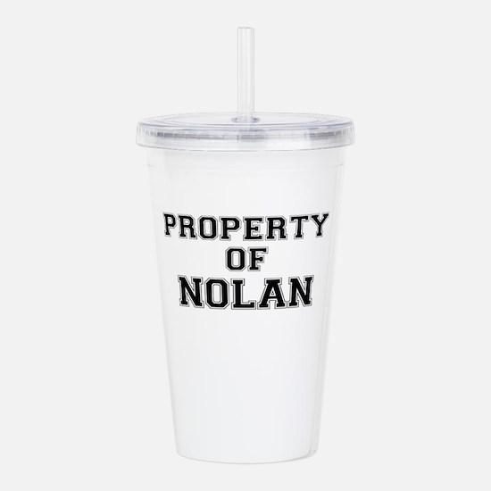 Property of NOLAN Acrylic Double-wall Tumbler