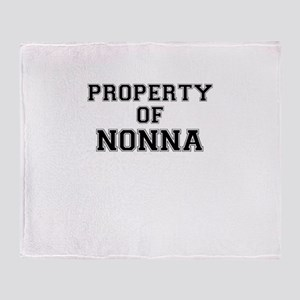 Property of NONNA Throw Blanket