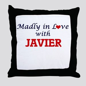 Madly in love with Javier Throw Pillow