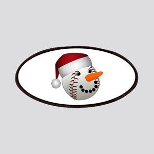 Christmas Baseball Snowman Patch