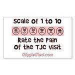 Pain of TJC Rectangle Sticker