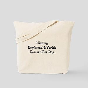 Missing Boyfriend & Yorkie Tote Bag