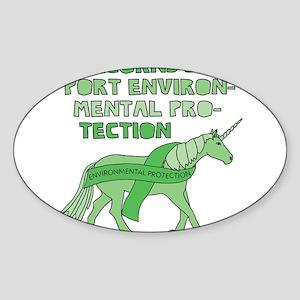 Unicorns Support Environmental Protection Sticker