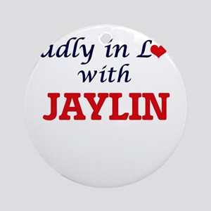 Madly in love with Jaylin Round Ornament