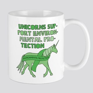 Unicorns Support Environmental Protection Mugs