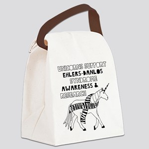 Unicorns Support Ehlers-Danlos Sy Canvas Lunch Bag