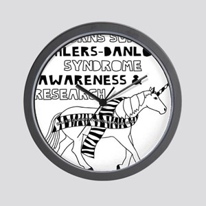 Unicorns Support Ehlers-Danlos Syndrome Wall Clock