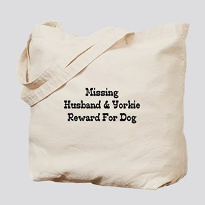 Missing Husband & Yorkie Tote Bag