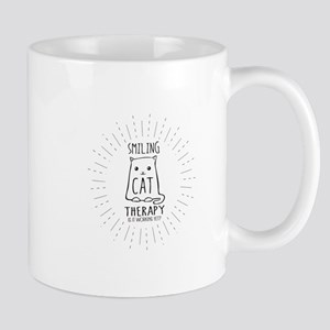 Smiling Cat Therapy Mugs