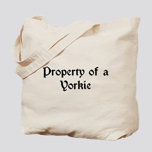 Property of a Yorkie Tote Bag