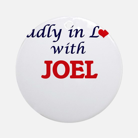 Madly in love with Joel Round Ornament