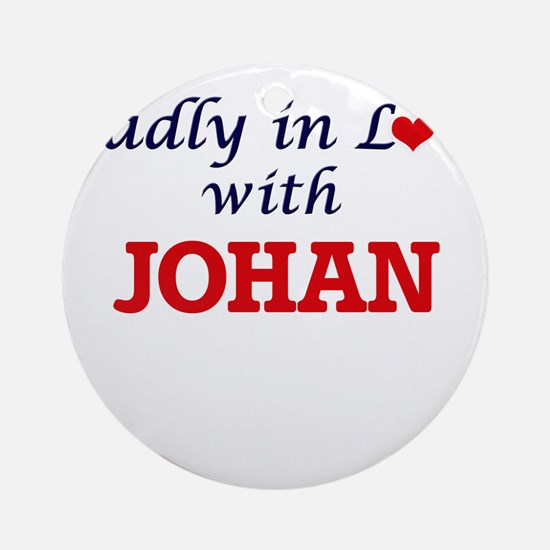 Madly in love with Johan Round Ornament