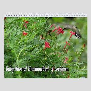 Ruby-throated Hummingbirds Wall Calendar