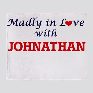 Madly in love with Johnathan Throw Blanket